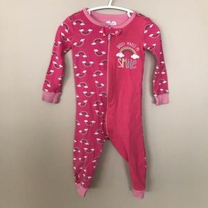 5/$25 (CHILDRENS) PLACE rainbow pyjamas